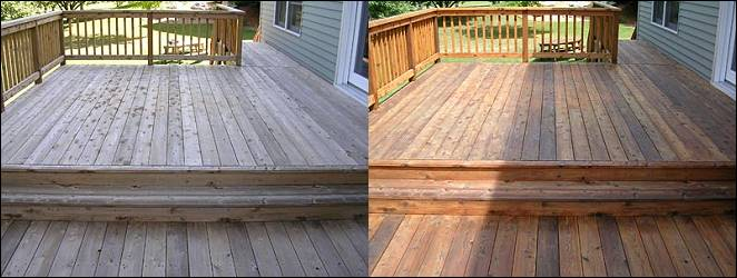 Deck Fence And Concrete Sealing Restoration Cleaning From